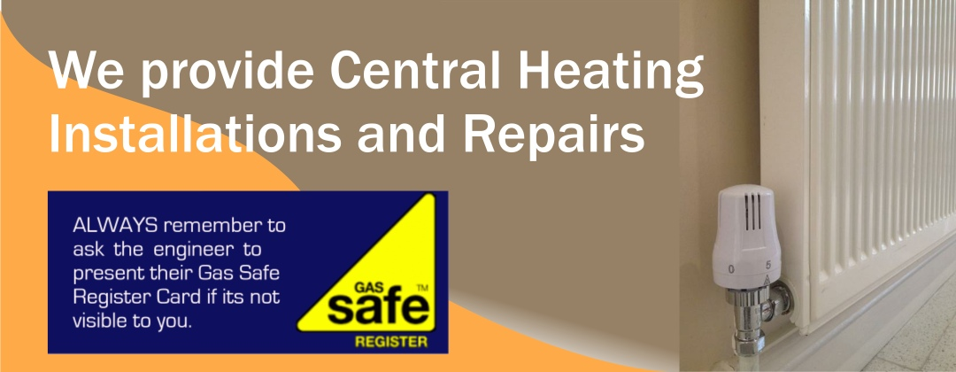 bespoke large Central Heating and Gas Services banner