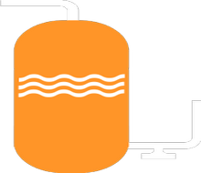 Service Tanks and Overflow bespoke graphic png image